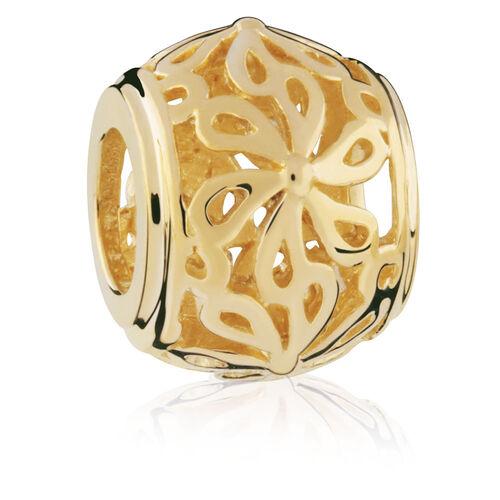 10ct Yellow Gold Filigree Flower Charm