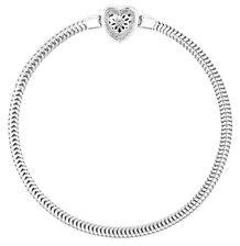 Online Exclusive - Diamond Set Sterling Silver Charm Bracelet