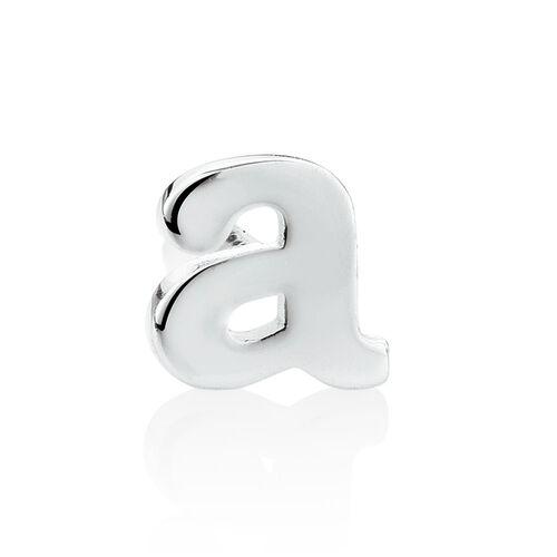 """""""A"""" Stud Earring in Sterling Silver"""