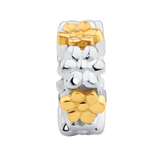 10ct Yellow Gold & Sterling Silver Spacer