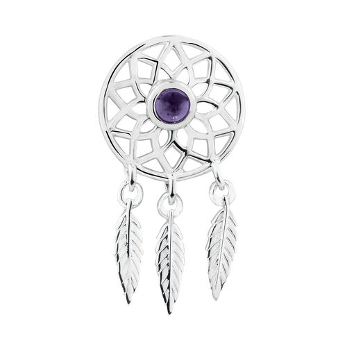 Dream Catcher Earring Enhancers in Sterling Silver