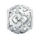 Diamond Set & Sterling Silver Heart Charm
