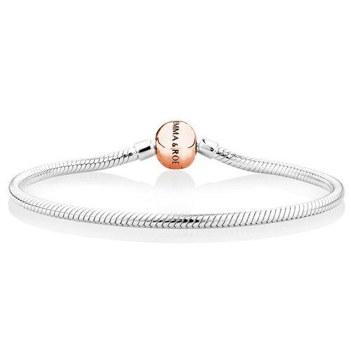 Charm Bracelet in 10ct Rose Gold & Sterling Silver