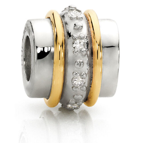 Diamond Set, 10ct Yellow Gold & Sterling Silver Charm