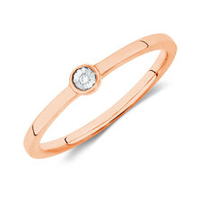 Diamond Set Ring in 10ct Rose Gold