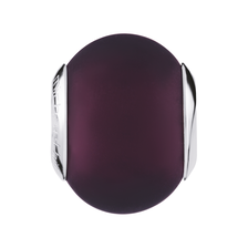 Purple Matte Murano Glass Charm