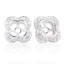 Cubic Zirconia & Sterling Silver Quatre Earring Enhancer
