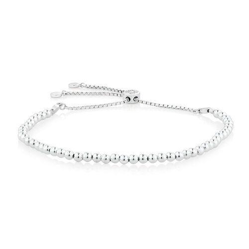 Adjustable Ball Bracelet in Sterling Silver