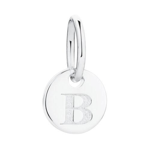 B' Mini Pendant in Sterling Silver