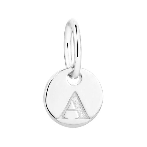 """A"" Initial Mini Pendant in Sterling Silver"