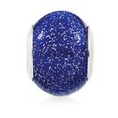 Dark Blue Sparkle Glass Charm