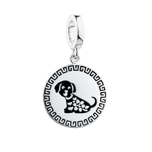 Lunar New Year Dog Charm in Sterling Silver