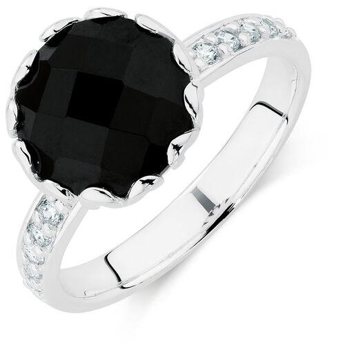 Black & White Cubic Zirconia Stack Ring