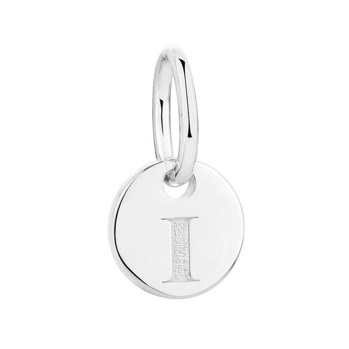 """I"" Initial Mini Pendant in Sterling Silver"