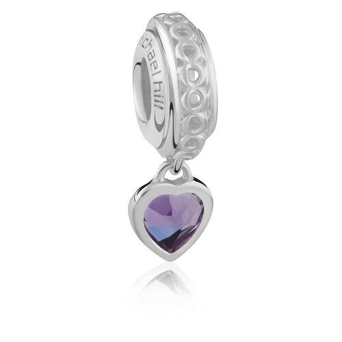 Sterling Silver June Heart Charm